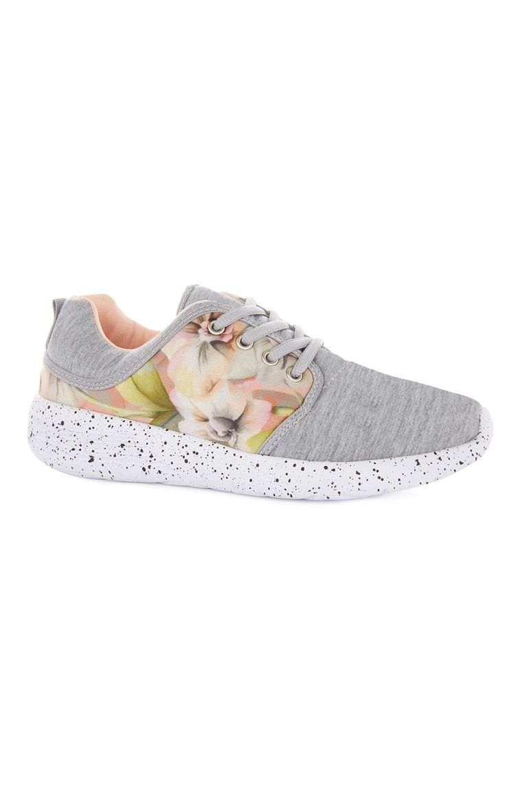 Primark - Printed Floral and Grey Trainers  01fca22f414