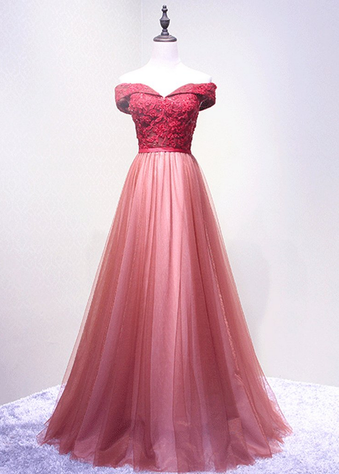 Off Shoulder Cute Style Pink Party Dresses, | Best Dresses to Buy ...