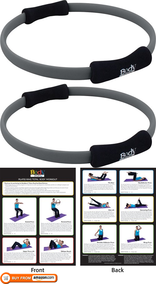 Body Sport Pilates Ring with Foam Padded Grips, 14 Diameter Pilates Ring With Foam Padded Grips, Latex Free. High-quality product that provides ample support and stabilization. Useful for strength training and other health and wellness activitie..., #Sporting Goods, #Fitness Circles, $23.99