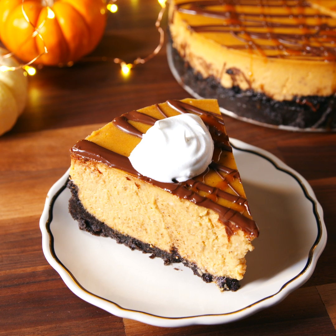 Chocolate Pumpkin Cheesecake