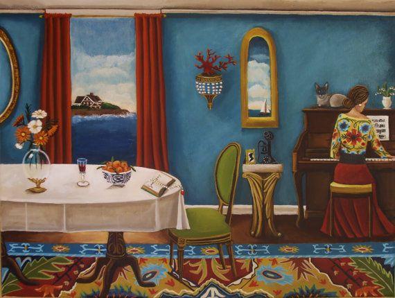 Original PaintingSummer Sonata16x12  by CatherineNolinArt on Etsy, $595.00