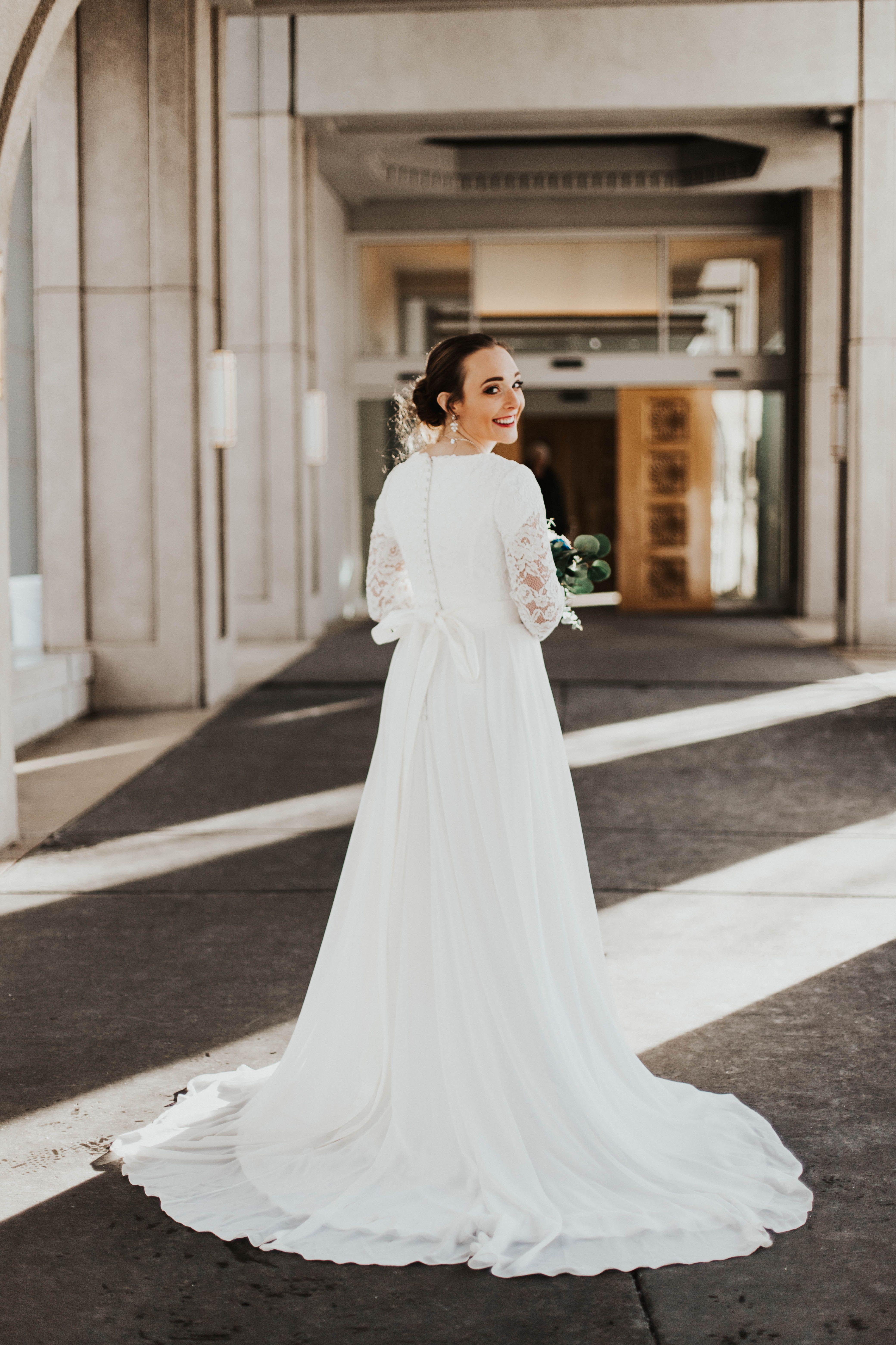 Haven Modest Wedding Dresses Simple Lace Wedding Dress Wedding Dress Sleeves [ 6240 x 4160 Pixel ]
