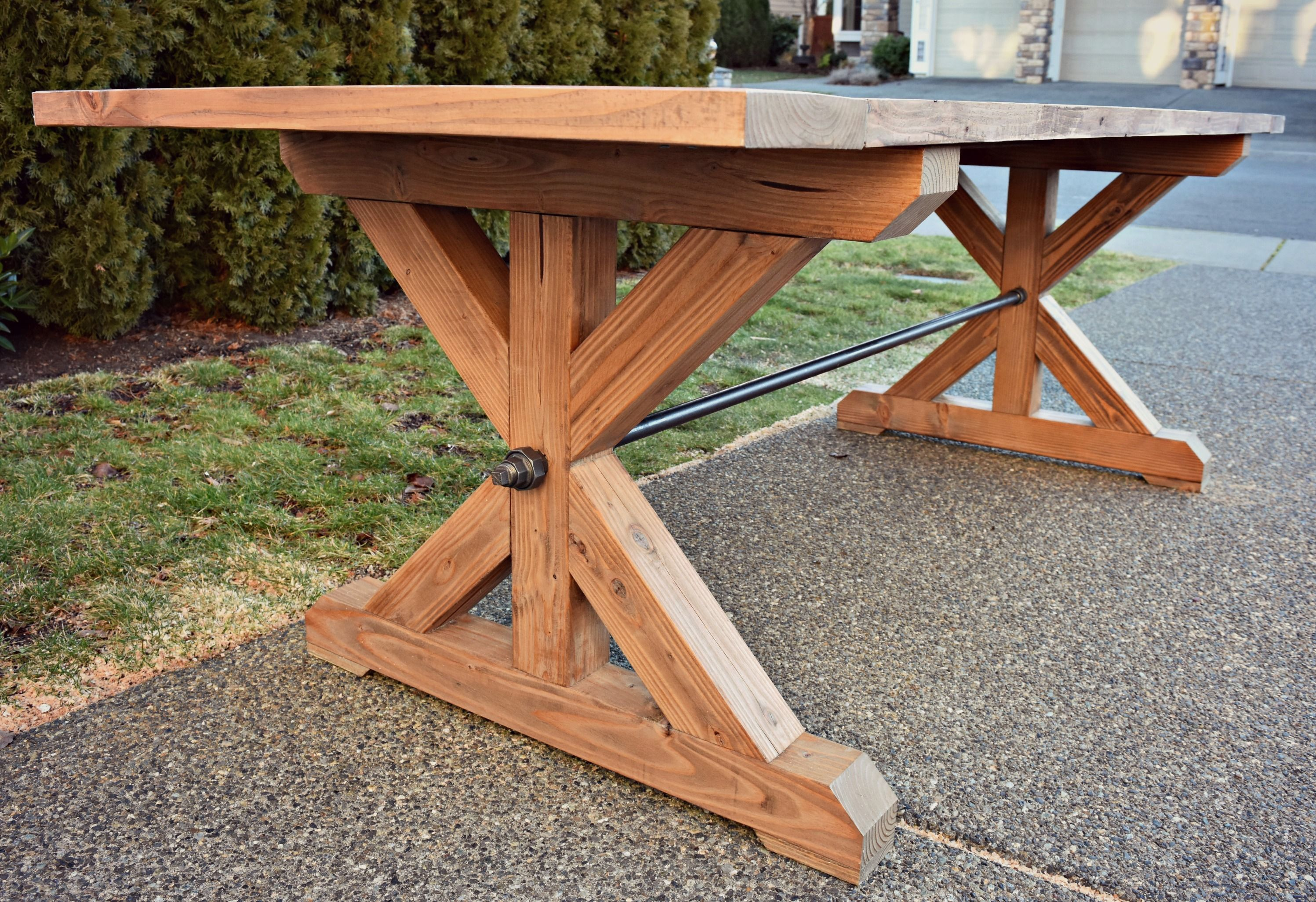 The Ironbolt Table Do It Yourself Home Projects From Ana White Cedar Table Dinning Table Diy Farmhouse Table
