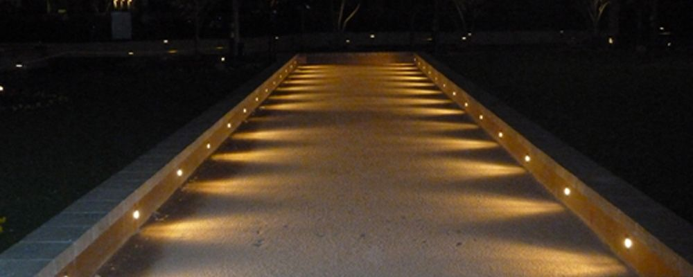 Night lights add a touch of ambience! Bocce Ball Court ...