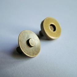 Magnetische knopen bronskleurig 14mm