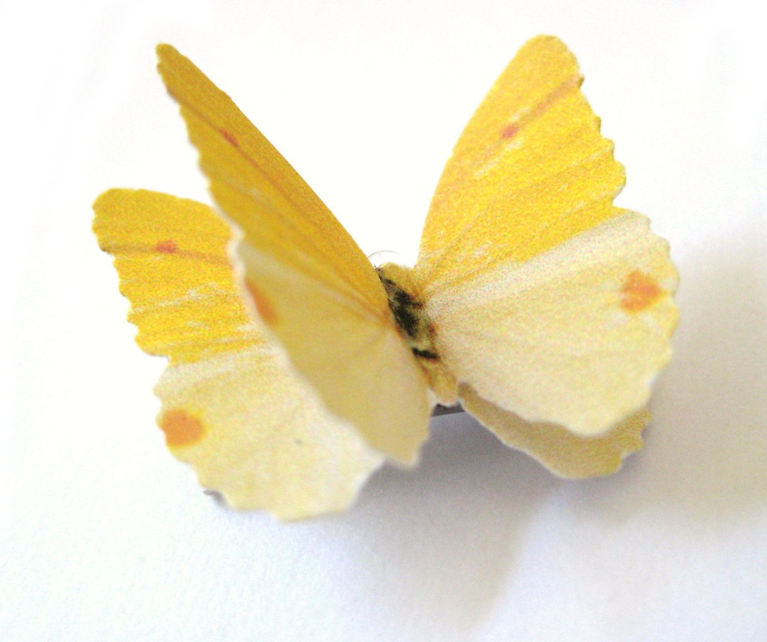 Yellow hair accessories for wedding - Yellow Bridal Hair Clip Butterfly Bridesmaid Hair Accessories 15 95 Via Etsy This Would