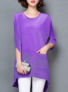 Fashionmia Purple Blouses Tops Fashionmiacom Fashion