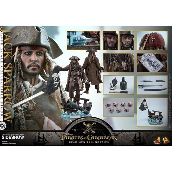 Pirates Of The Caribbean Jack Sparrow Movie Masterpiece Action Figur 1/6 Skala