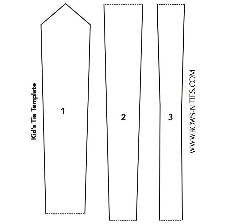 kids necktie template click the image and print the file to have a