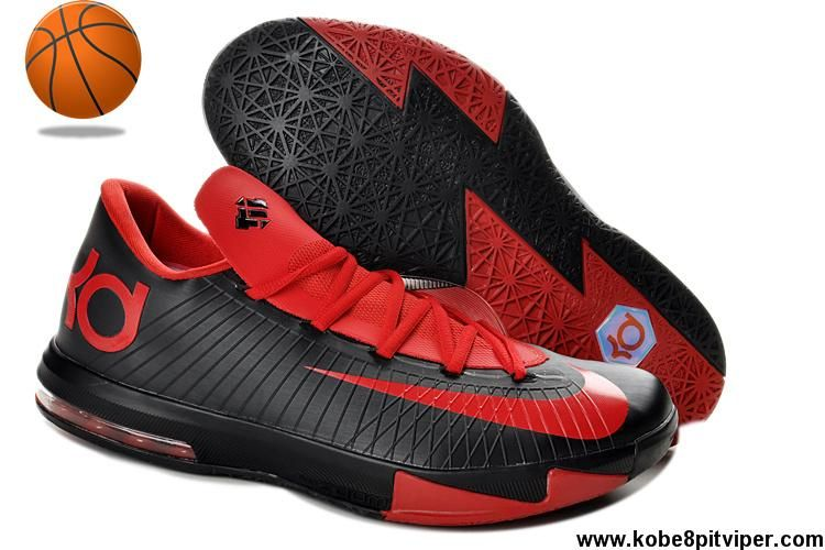 size 40 52a5b d0326 Buy Kevin Durant Shoes 599424-806 Nike Zoom KD 6 Low Red Black Sports Shoes  Shop