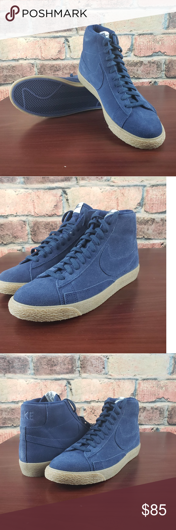 buy online 26ec0 88bbb  New Nike Blazer Mid Premium Binary Blue Brand new with box with no lid.  This Nike Blazer Mid features a Blue suede upper upper with matching laces,  ...