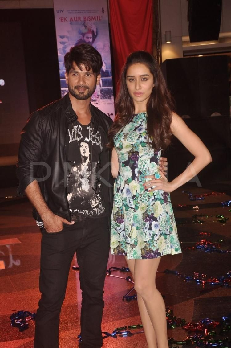 Shahid and shraddha launch the new song from haider shraddha