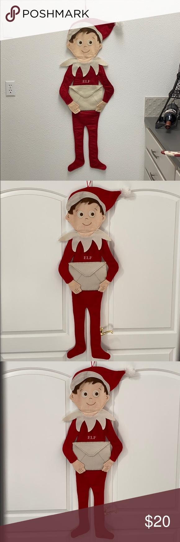 Pottery Barn Kids Elf on the Shelf Letter to Santa EUC