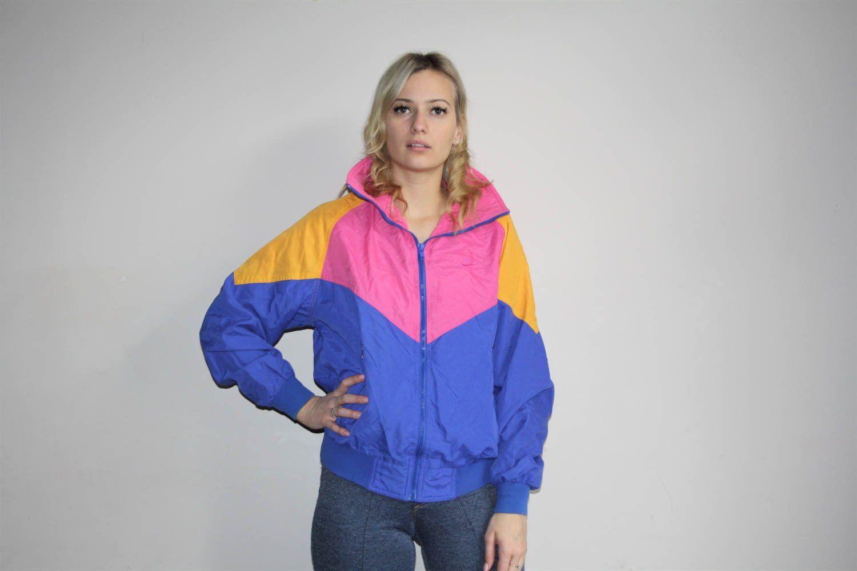 S vintage nike colorblock track windbreaker jacket aethetic