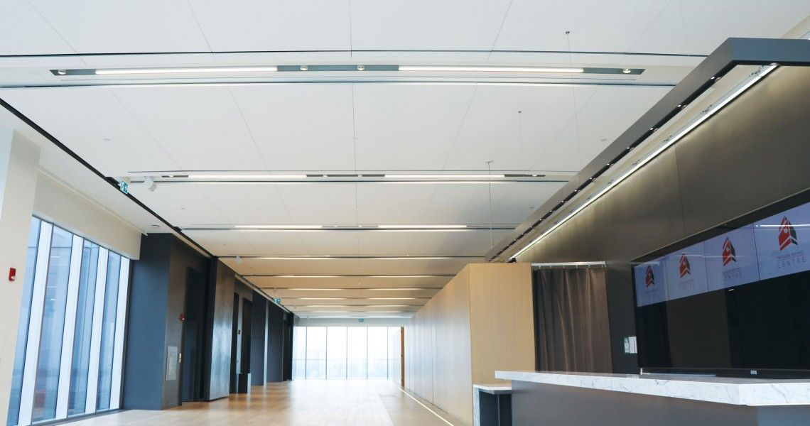 Decoustics Claro The Globe And Mail Center Mail Center Acoustic Panels Globe