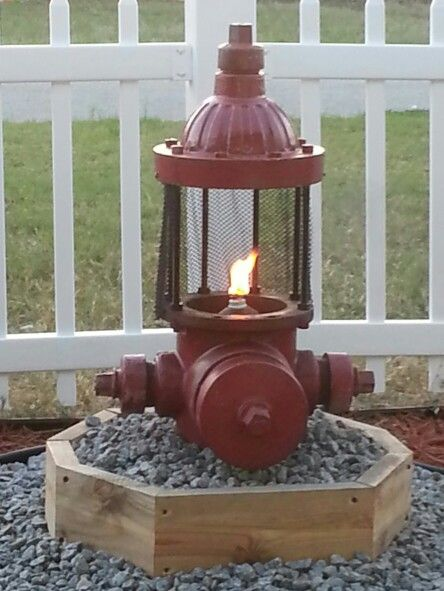 Fire hydrant fire pit  Firefighter decor, Fireman decor, Firefighter