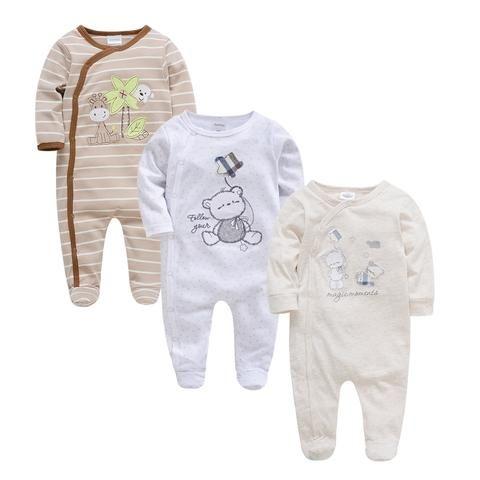 f7b9b1dfc Kavkas Baby Boy Rompers 3 6 9 12m Full Sleeve Newborn Clothes Set ...