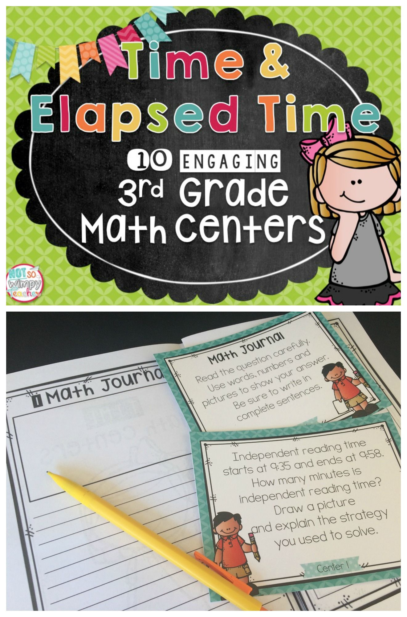 This product includes 10 engaging math centers that review time and ...