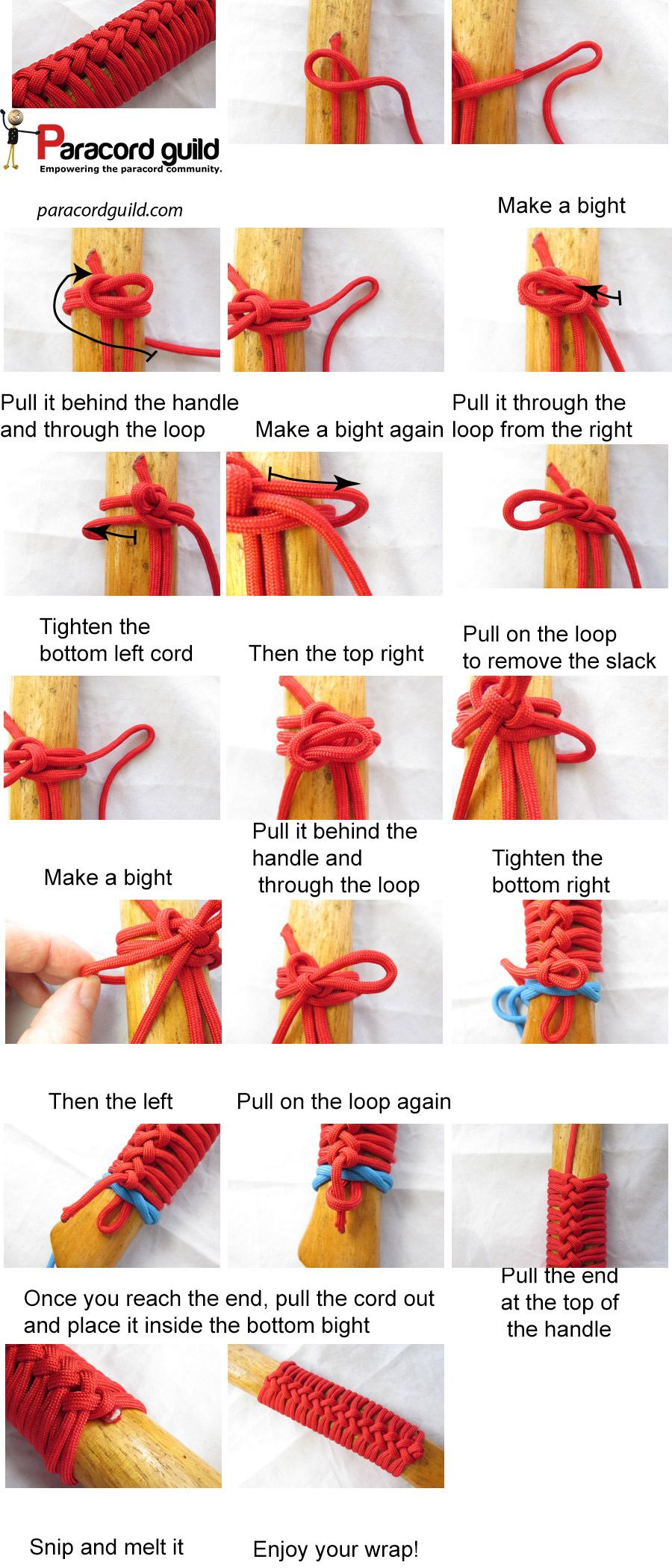 How To Make A Paracord Axe Handle Wrap This Looks So