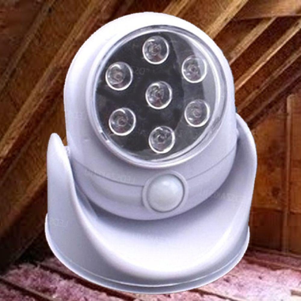 Attic Squirrel Repellent The Fright Light Motion Sensor 7 Bright Led Lights Frightlight Bright Led Lights Led Lights Motion Sensor