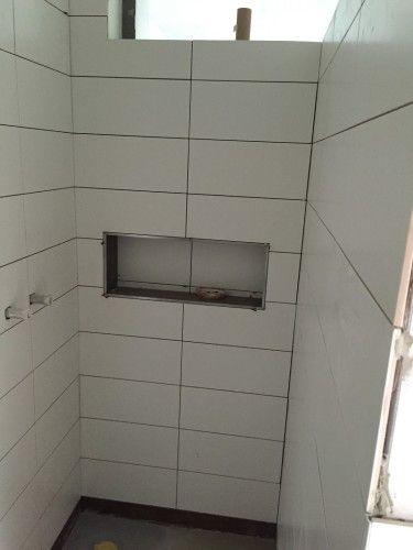 Duschablage Unser Ablagefach In Der Gemauerten Dusche Duschablage Gemauerte Dusche Ablage Dusche