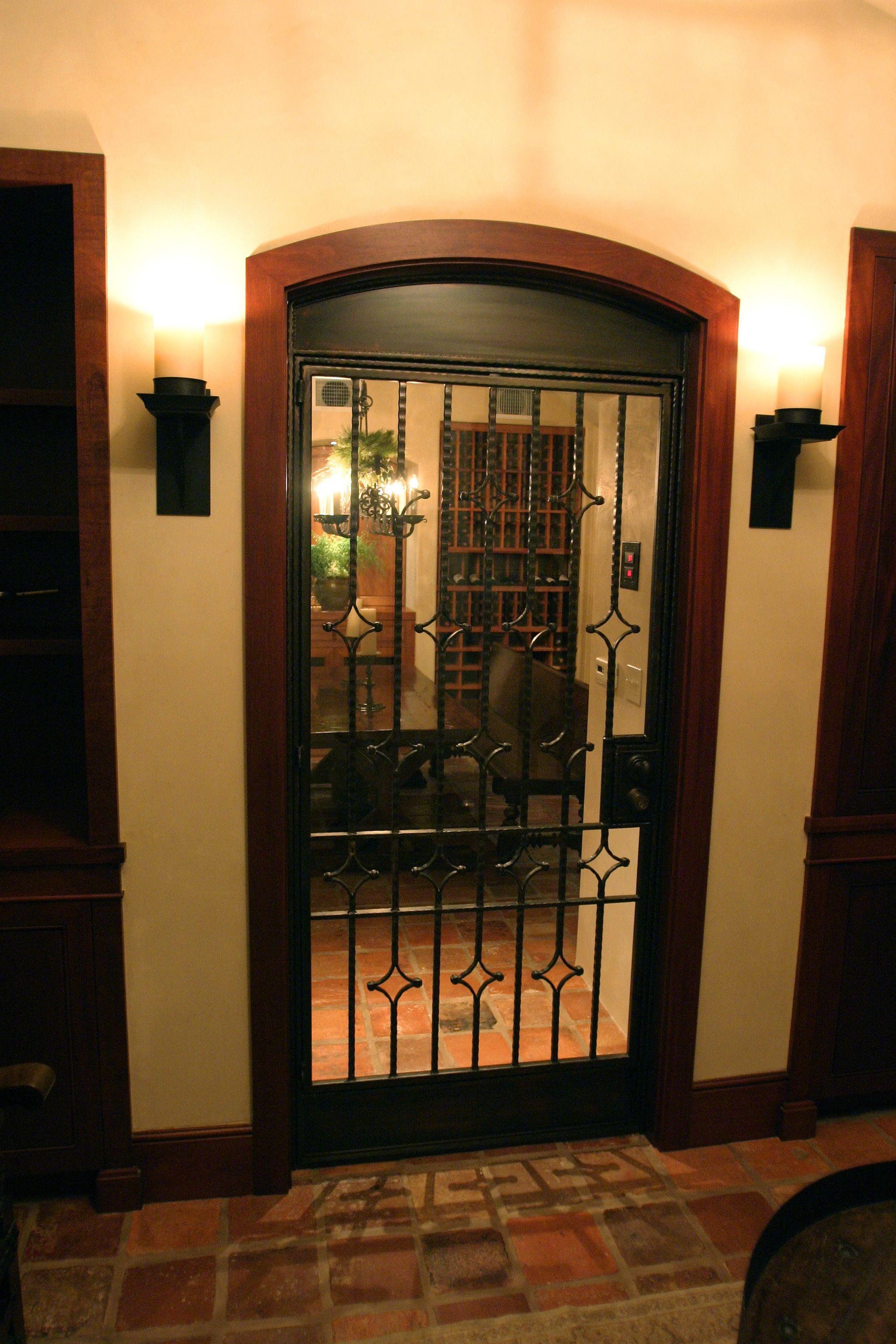 Wine cellar door with insulated glass Kolkka Evolution doors