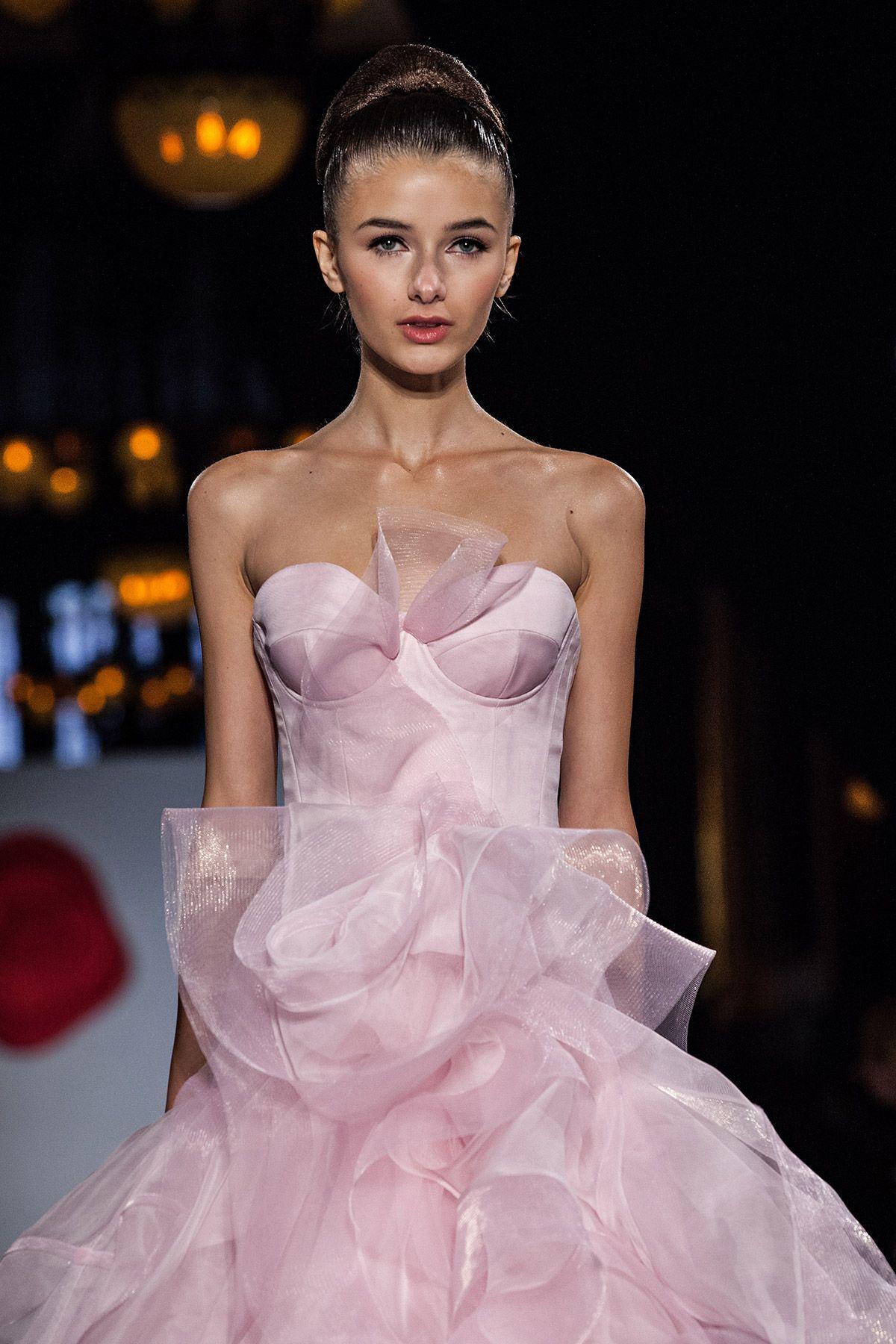 Azalea — Austin Scarlett   Pink wedding gowns, Designer wedding ...
