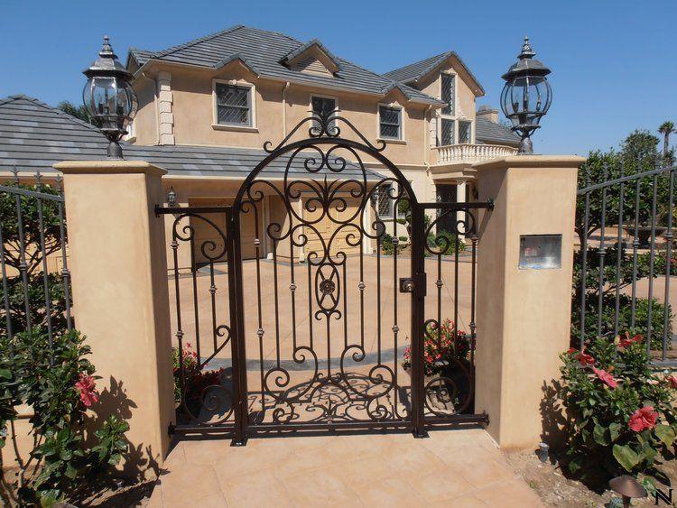 Ornamental Wrought Iron Pedestrian Gates — Custom Metal Designs