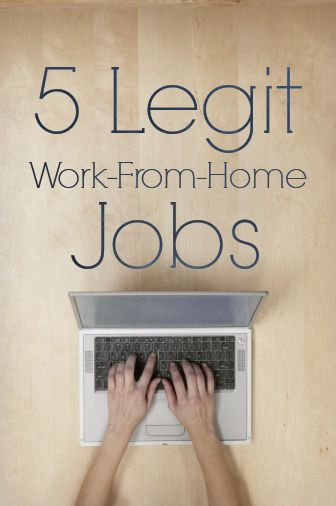 5 Legit Work From Home Jobs Some Great Job Ideas Here Http