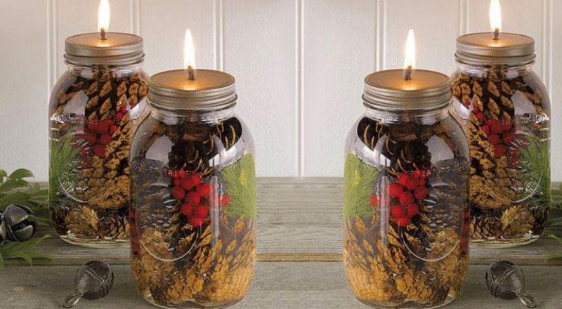 Elle fait des bougies parfumées dans des pots Mason!