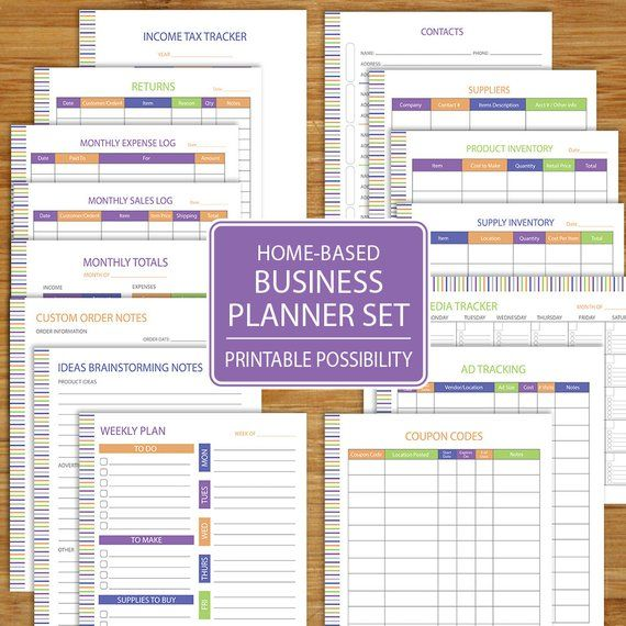 small business planner home business planner etsy business track