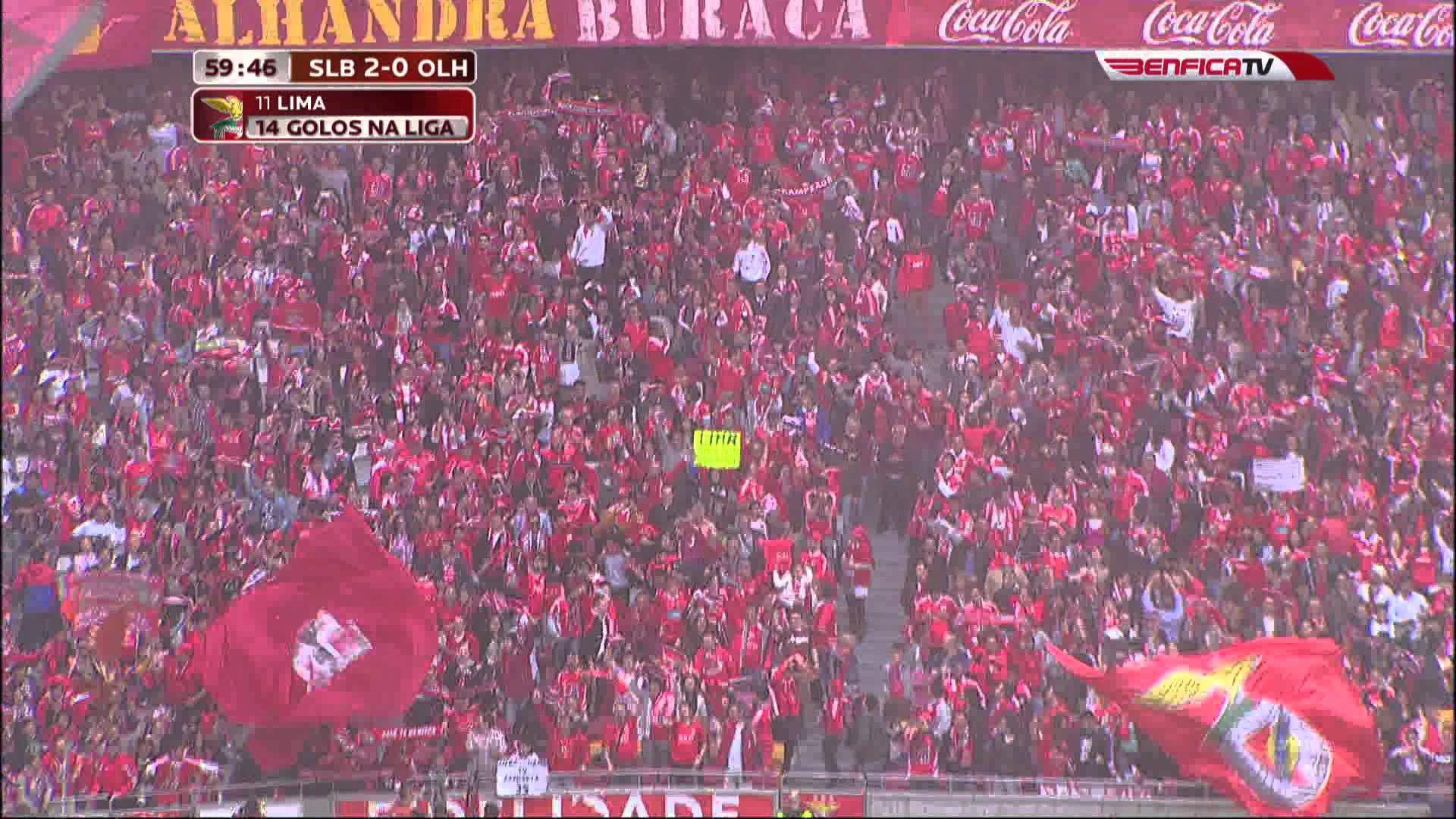Sl Benfica X Olhanense 2º Golo Com Imagens Golo