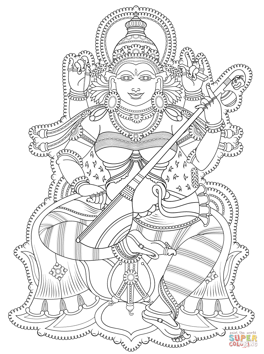 Kerala Mural coloring page from Hinduism category. Select