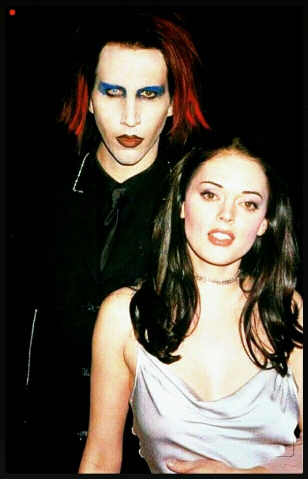 A very Young M. Manson & Rose McGowan. | Short hair styles ...