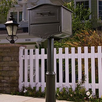 Front Gate Mail Box Architectural Mailboxes Decor Mounted Mailbox