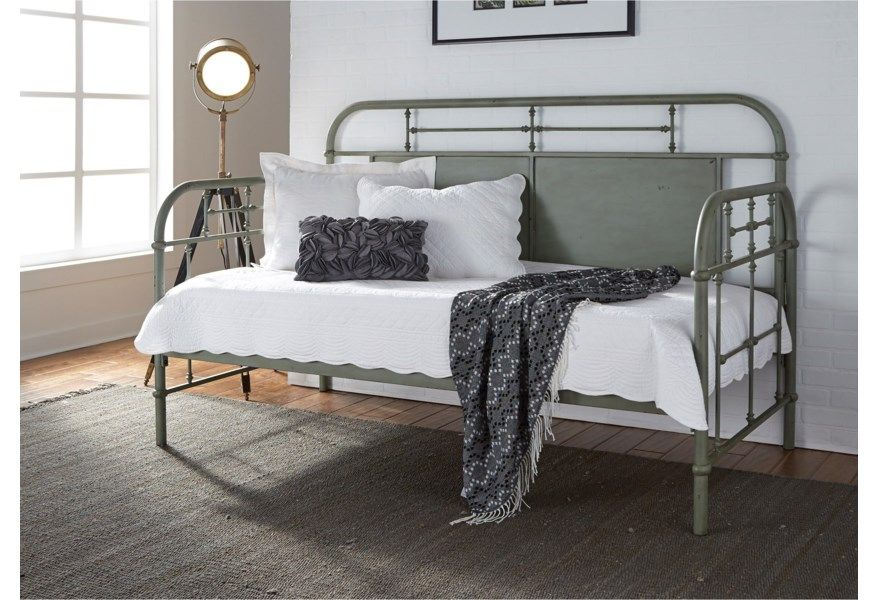 Vintage Series Twin Metal Daybed with Turned Spindles by Freedom Furniture at Ruby Gordon Home