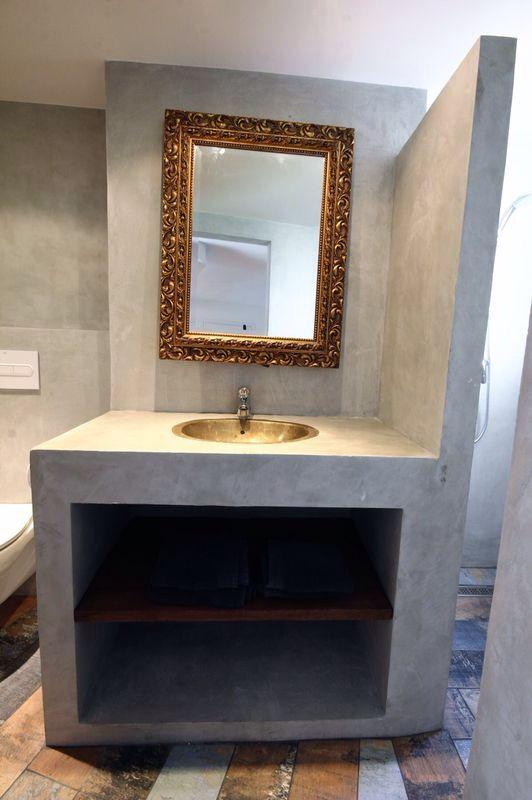 Ba o de cemento pulido concrete for Concrete bathroom ideas