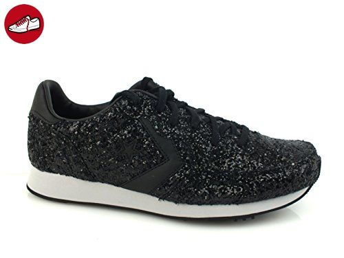 Converse Auckland Racer Ox Glitter, Damen Sneaker Schwarz schwarz 36,  Schwarz - schwarz -