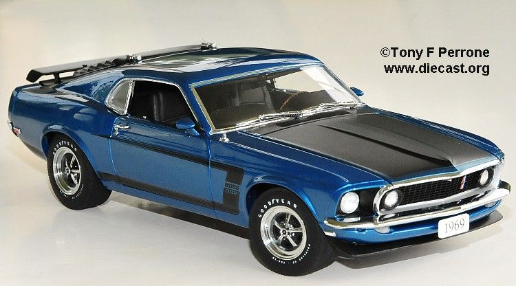 1969 Boss 302 Diecast Scale Model By Danbury Mint Ford Mustang