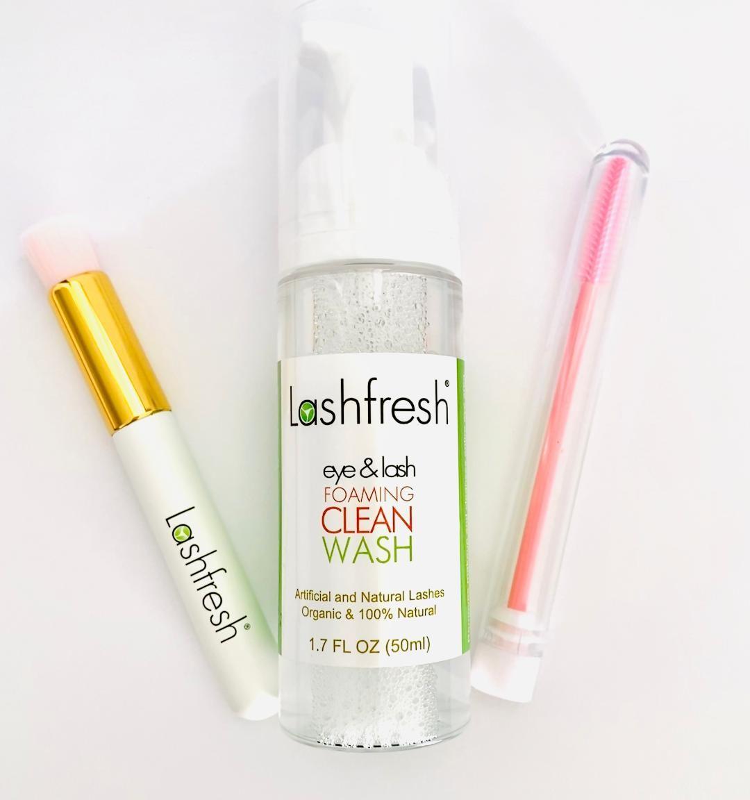 Lashfresh Foaming Clean Wash, 50ml + Lash Cleansing Brush