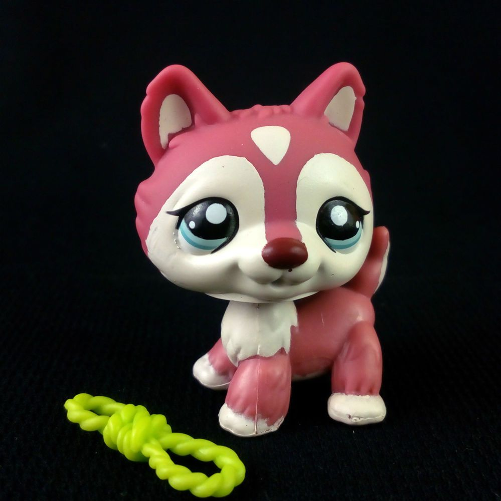 Littlest Pet Shop 1793 Red Husky Dog Lps Toy Hasbro 2006 Green Eyes Standing Little Pets Lps Pets Lps Dog