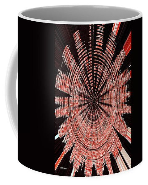 Black Walnut Ink Drawing Abstract Coffee Mug by Tom Janca. Small (11 ...