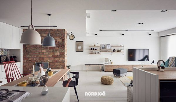 Room · nordic decor inspiration in two colorful homes