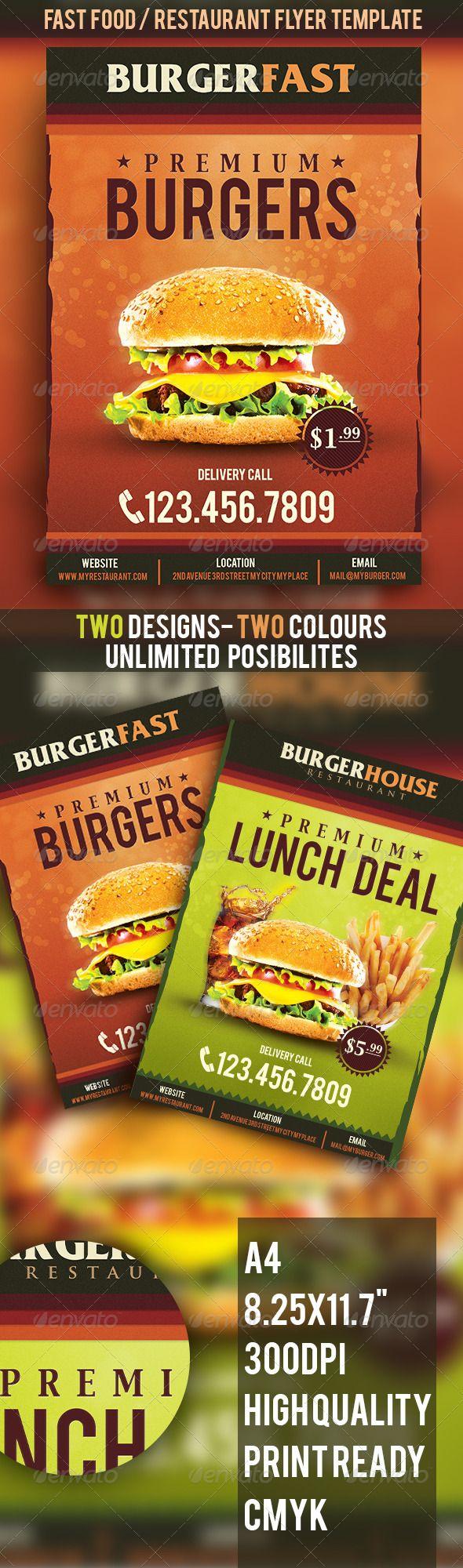 Premium Fast FoodRestaurant Flyer Template – Food Flyer Template