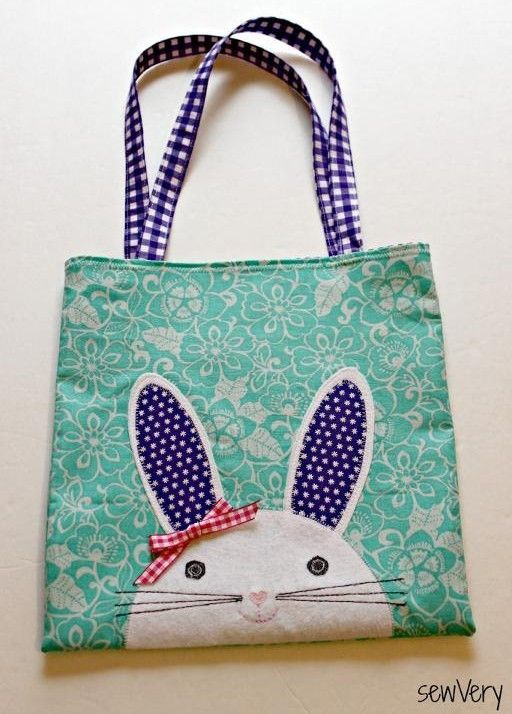 The Bunny Face Bag - Free Sewing Tutorial | Ostern, Applikationen ...
