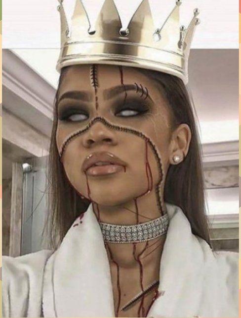 The Best Celebrity Halloween Makeup Looks Of 2016 #Celebrity #Halloween #makeup