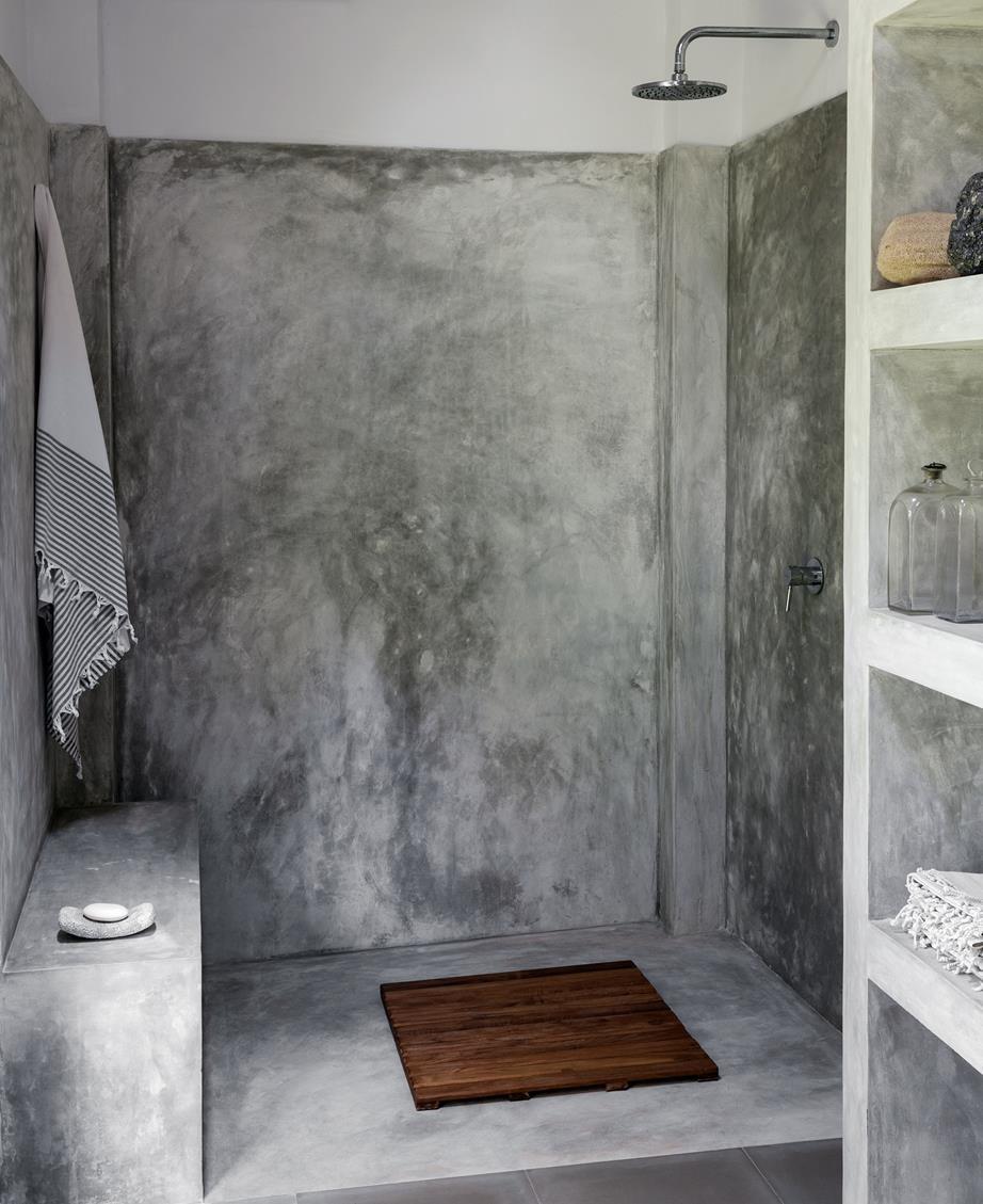 Sea Change Expat House Sri Lanka Bathroom Interior Design Polished Cement Concrete Bathroom