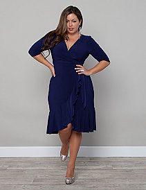 c80f6d65307 Whimsy Wrap Dress by Kiyonna