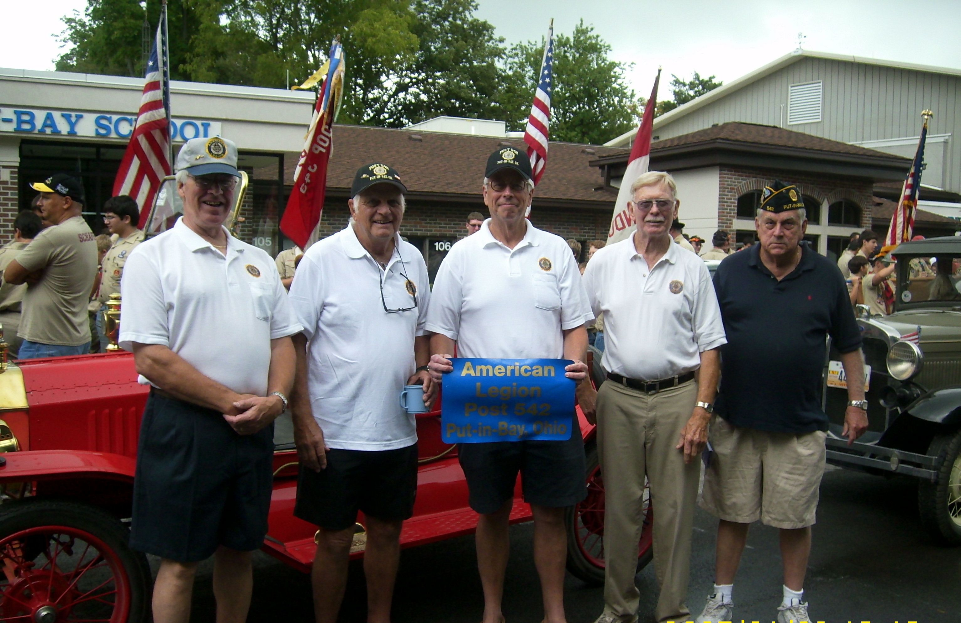 American Legion Post 542 Lining Up For The Grand Parade Through