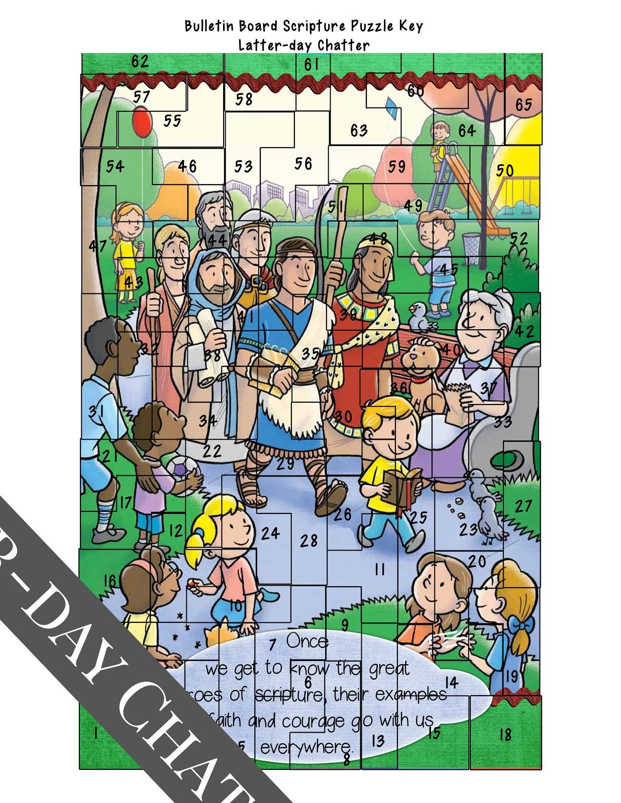 Latter Day Chatter Bulletin Board Scripture Puzzle